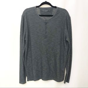 🌟NWOT John Varvatos Grey Henley Long Sleeve Shirt